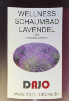DAJO Wellness Schaumbad LAVENDEL, kleine Probe Geschenkflasche 95 ml