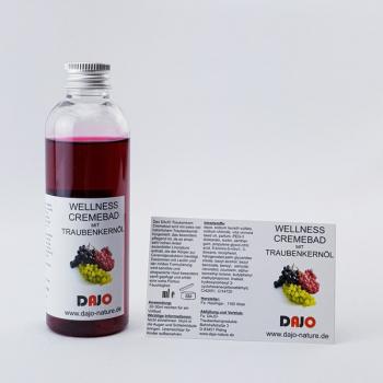 DAJO Wellness Cremebad mit TRAUBENKERNÖL, kleine Probe Geschenkflasche 95 ml