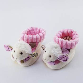 Babyschühchen Schäfchen rosa