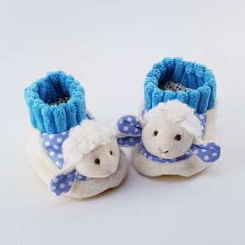 Babyschühchen Schäfchen hellblau