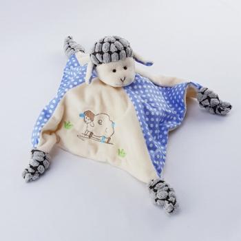 Schnuffeltuch Schaf hellblau