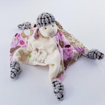 Schnuffeltuch Schaf rosa