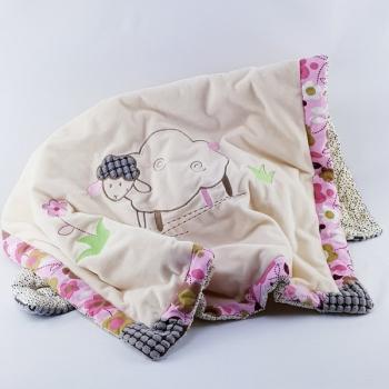 Decke Schäfchen rosa